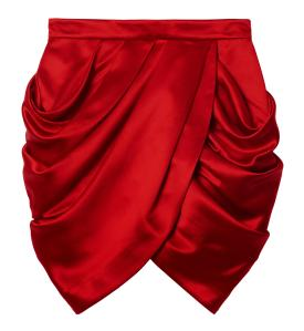 Balmain-x-HM-red-skirt